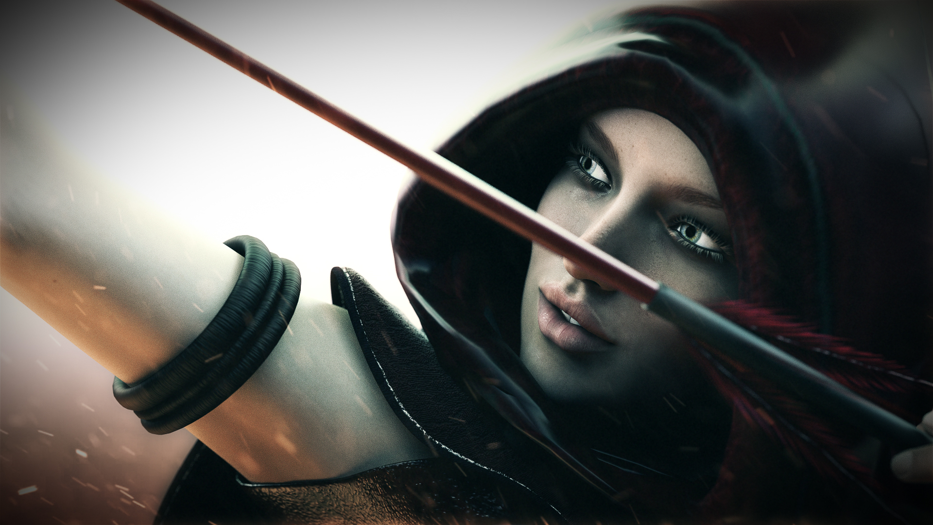 fantasy-archer-arrow-black-aiming-black-hat-1920x1080