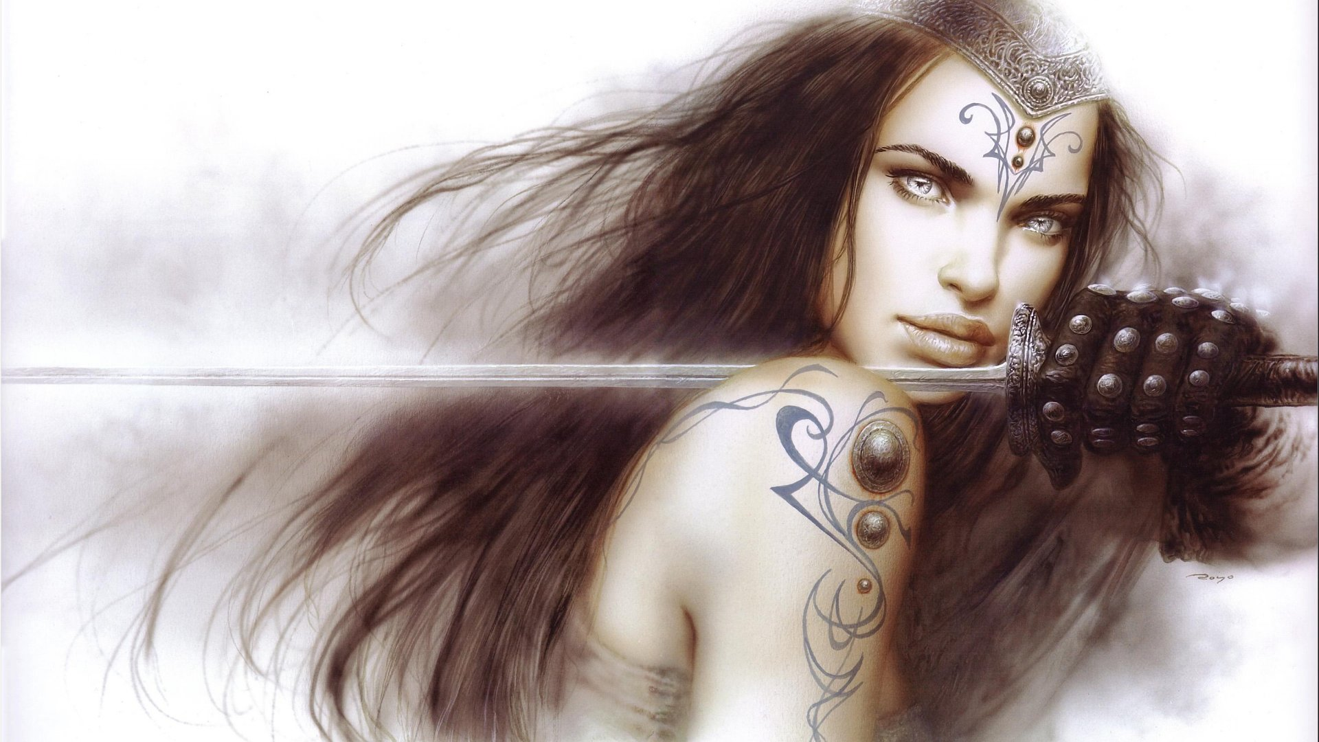 fantasy-girl-warrior-weapon-sword-tattoos-long-hair-white-background-black-gloves-1920x1080
