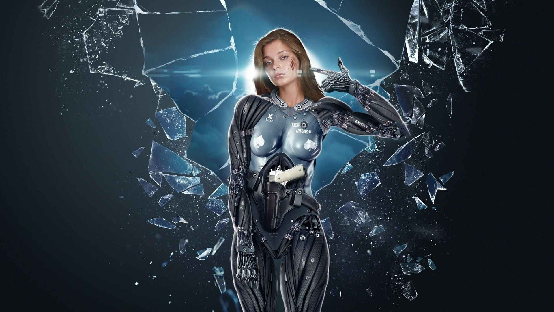 girl-cyborg-glass-shards-fall-1920x1080