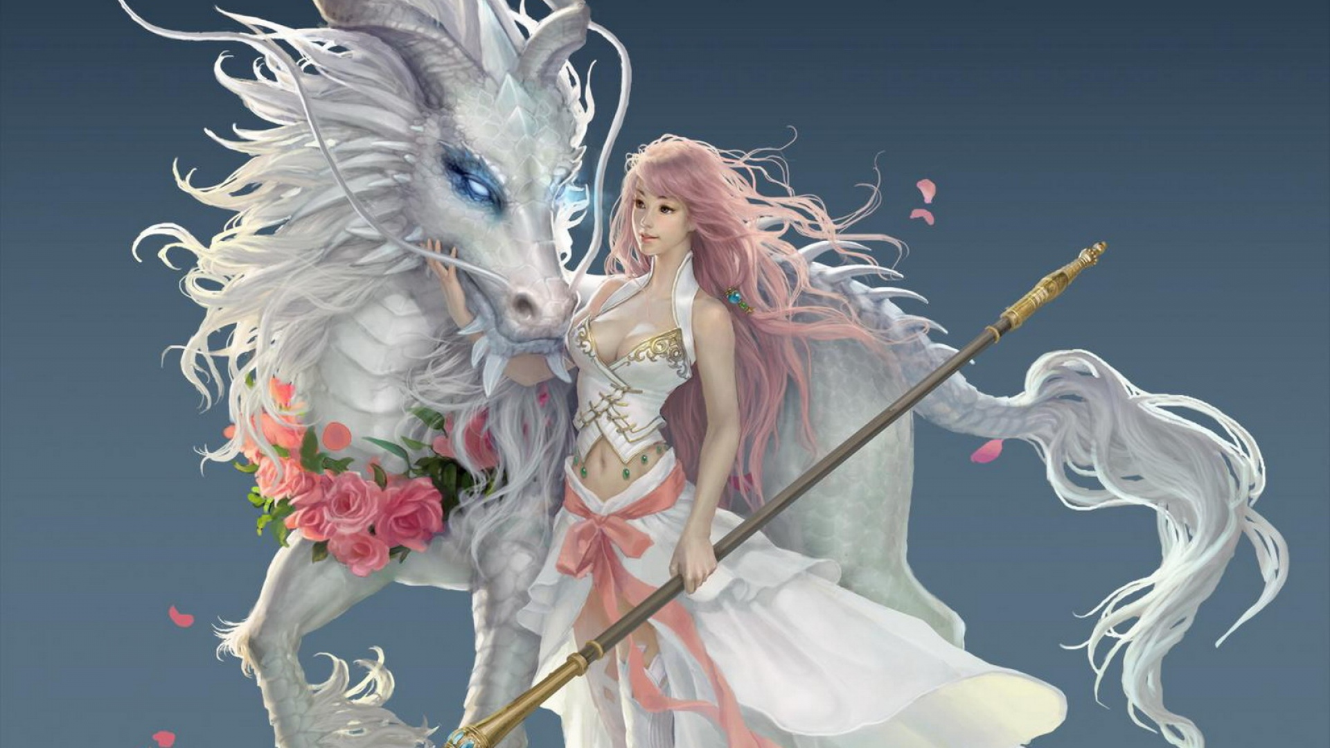 girl-dragon-horse-magic-staff-1920x1080