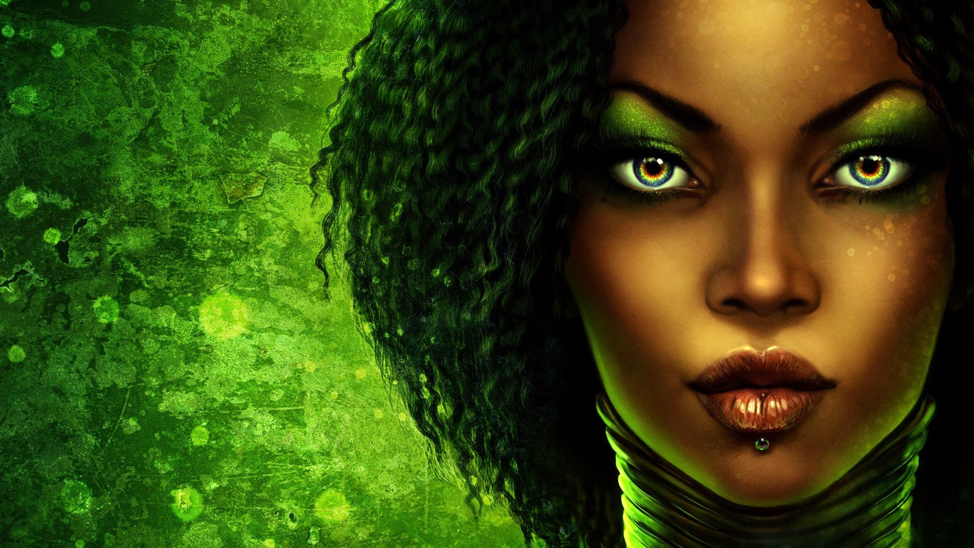 girl-person-green-make-up-piercing-lips-1920x1080