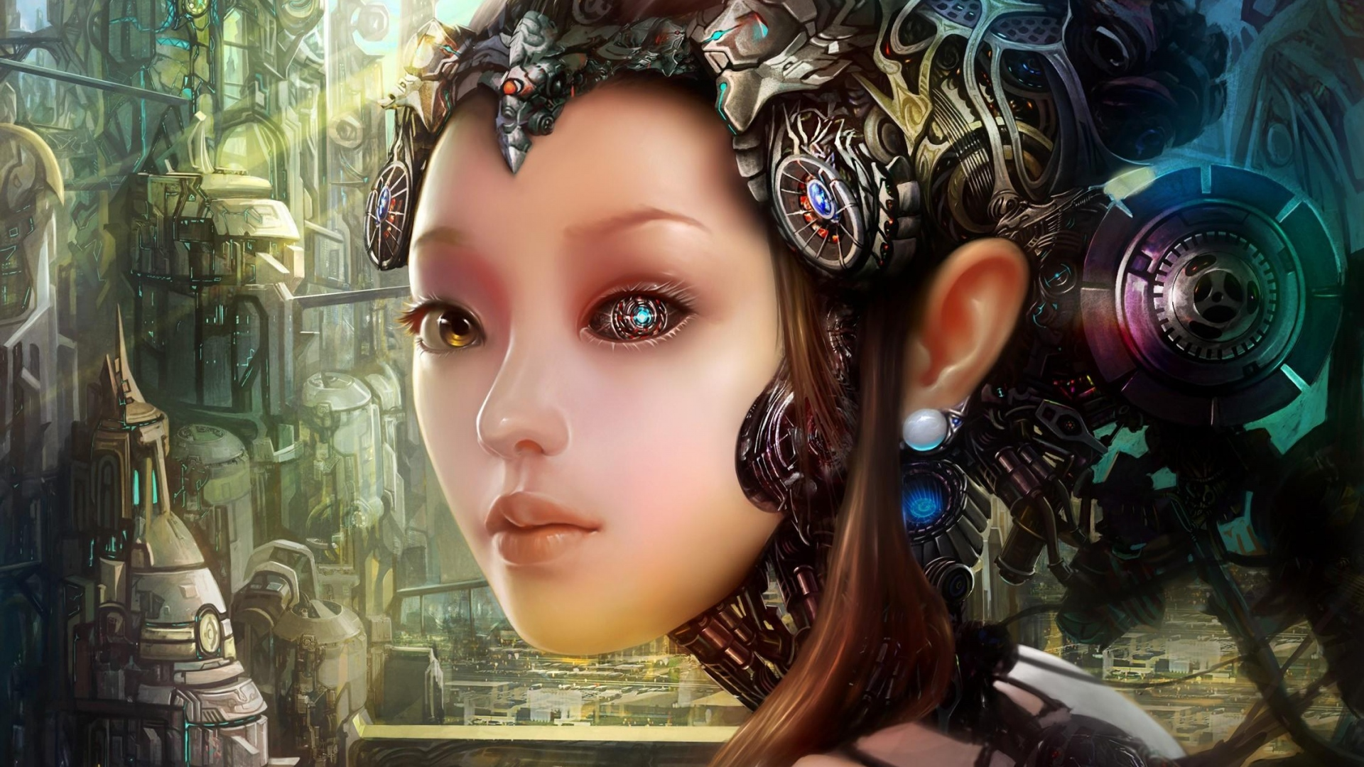 girl-robot-cyborg-city-1920x1080