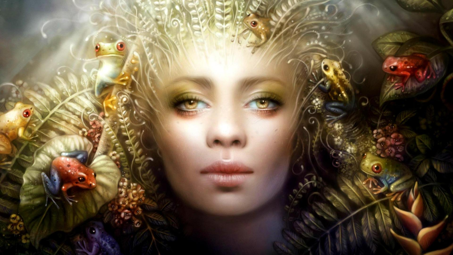 witch-queen-toads-frogs-medusa-greek-myths-crown-woman-dark-1920x1080