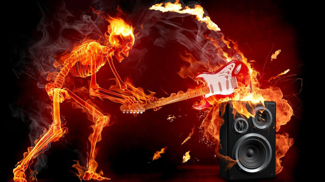 Wallpapersxl Fuego Azul Esqueleto Guitarra Musica Fotos Imagenes Hd 754742 1920x1080