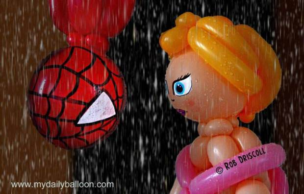 Balloon creations as famous movie characters Courtesy of: Rob Driscoll LINK: www.bowtieballoonguy.co.uk.