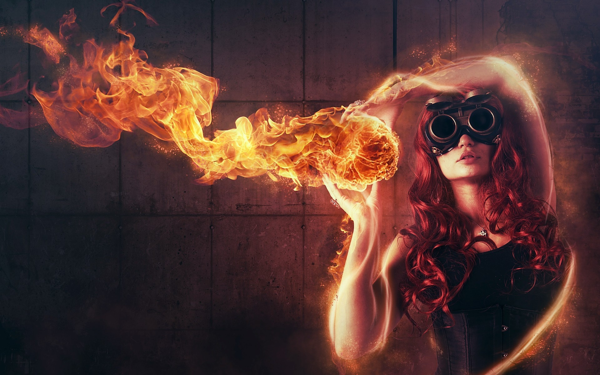 Wallpaper-Woman-Playing-with-Fire