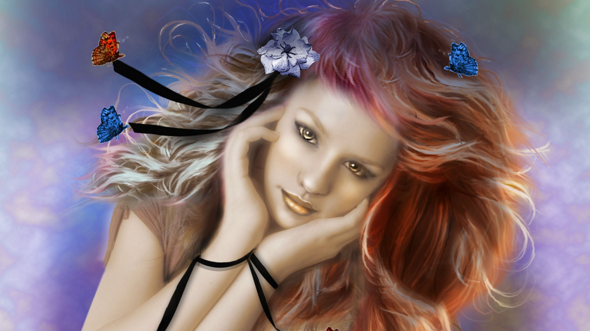 fantasy-girl-butterflies-brown-eyes-yellow-lips-long-hair-1920x1080