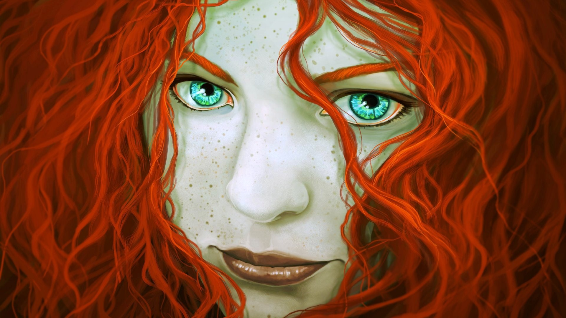 fantasy-girl-red-hair-green-eyes-freckles-face-1920x1080