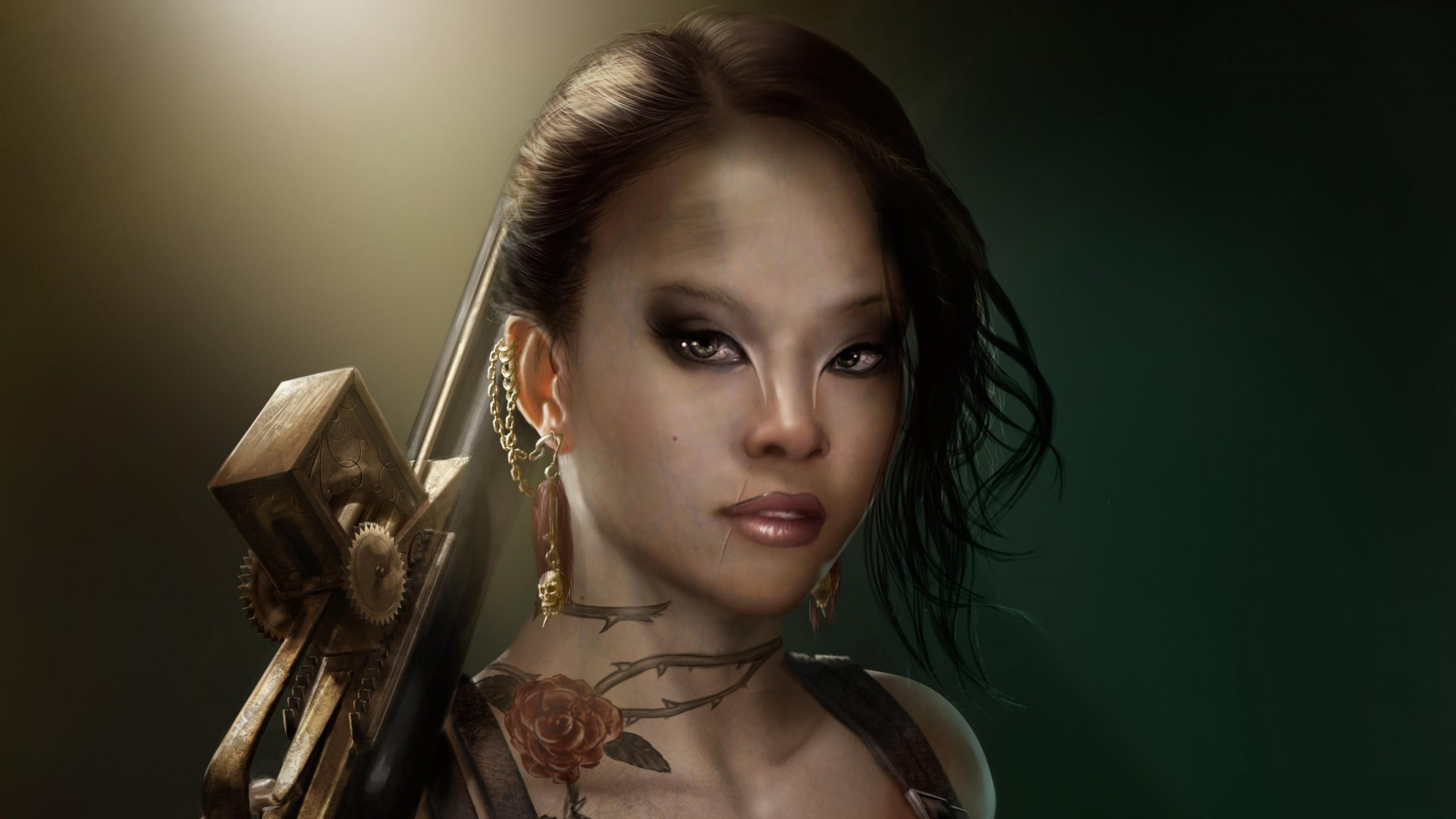 girl-makeup-tattoos-weapons-1920x1080