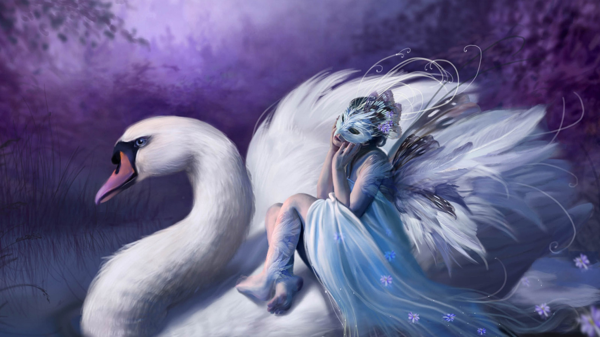 girl-swan-mask-lake-1920x1080